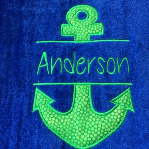 Split anchor beach towel