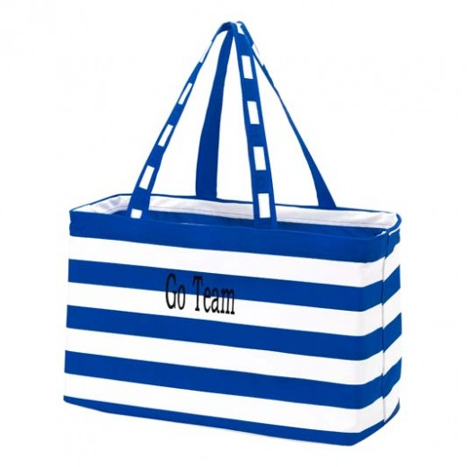 royal striped Ultimate tote