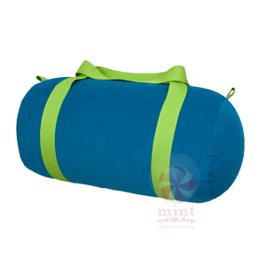 aqua with lime trim duffel