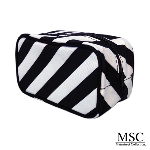 BW Striped cosmetic case