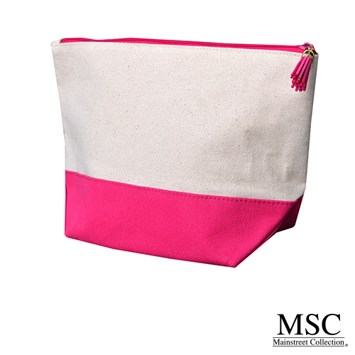 Pink Canvas Cosmetic case