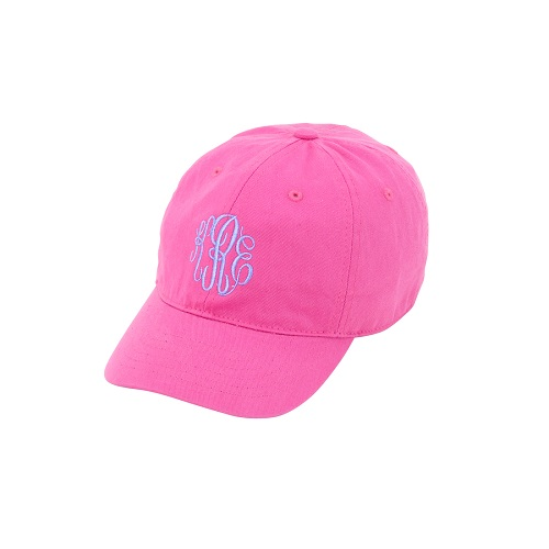 hot pink kids embroidered hats