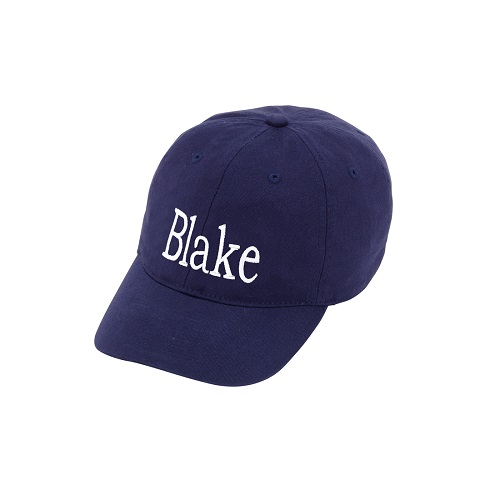 navy kids embroidered hats
