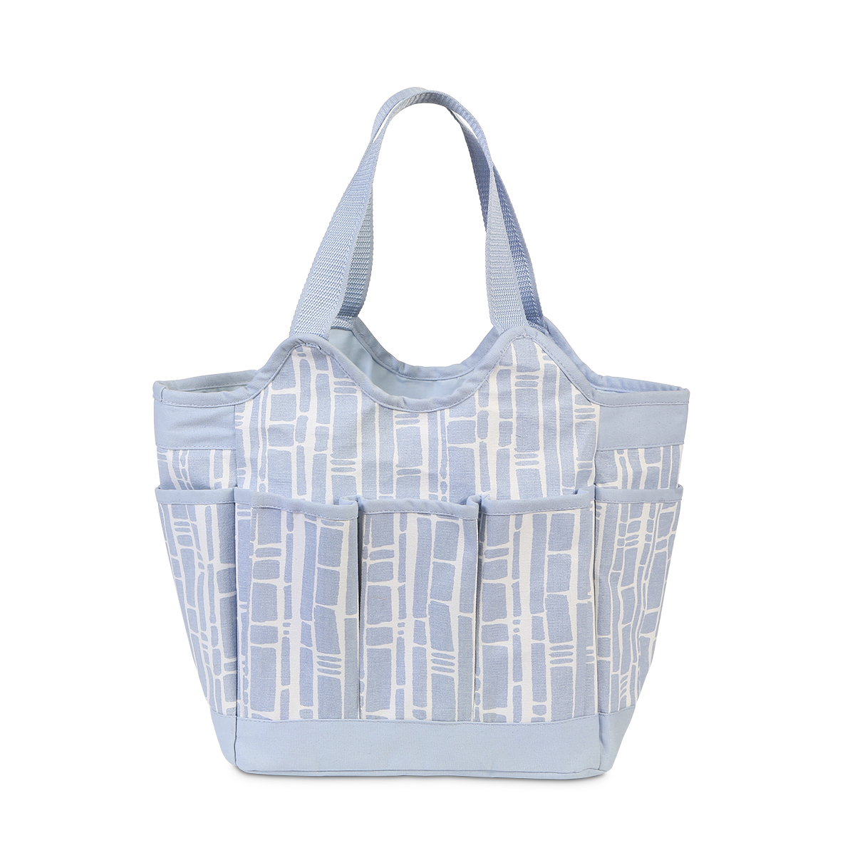 diaper bag in blue bamboo with lots of pockets for your baby things. Black Bedroom Furniture Sets. Home Design Ideas