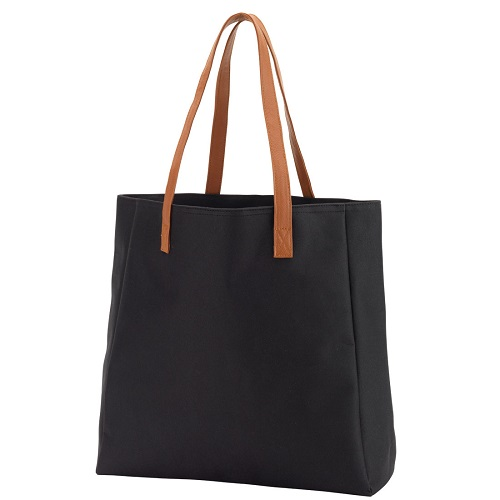 black game day tote