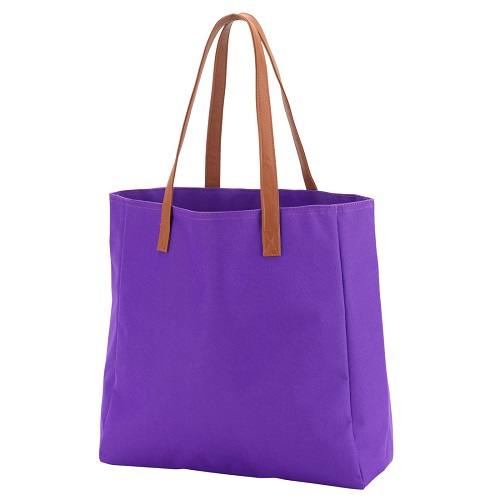 Purple game day tote