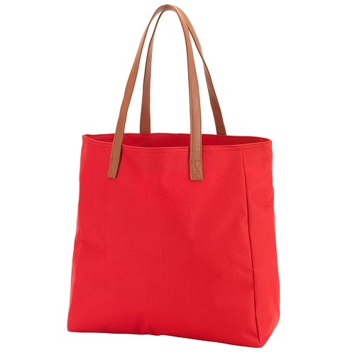 Red game day tote