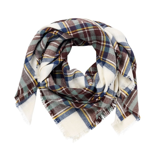 navy wine blanket scarf