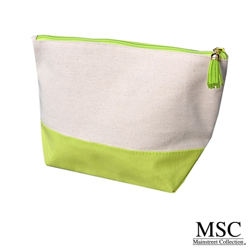 lime canvas cosmetic case