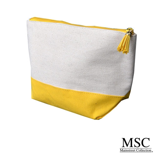Yellow Canvas Cosmetic Case