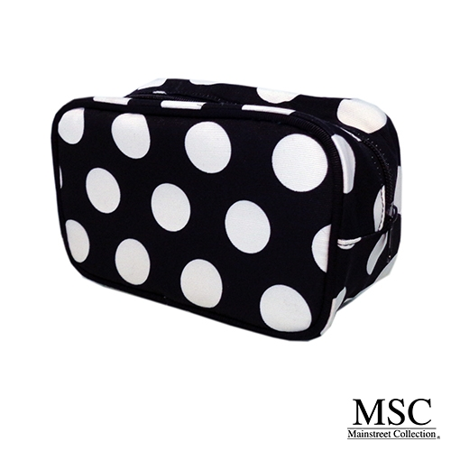 BW Polka Dot Cosmetic Case