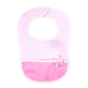 pink seersucker bibs