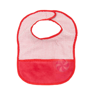 red seersucker bibs