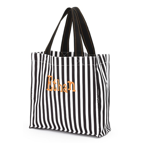 Black striped Halloween bag