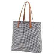Houndstooth game day tote