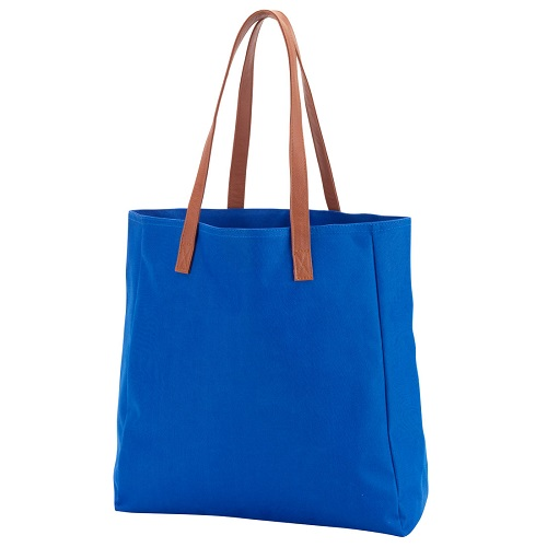 royal blue game day tote